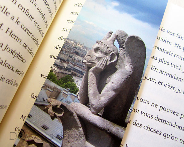 Gargoyle Photo Bookmark - Notre Dame cathedral, Paris, France