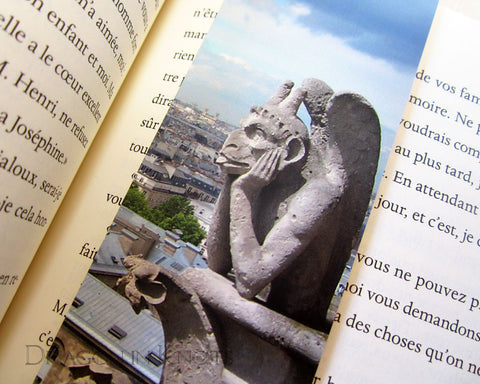 Gargoyle Bookmark - Dragon in Knots - Photo Bookmarks