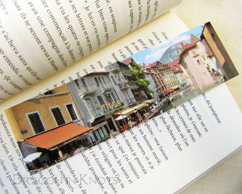 Canalside View Bookmark - Dragon in Knots handmade accessory