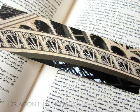 Eiffel Detail Bookmark - Dragon in Knots - Photo Bookmarks