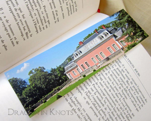 Pink House in the Park Bookmark - Rhône-Alpes, France travel photo