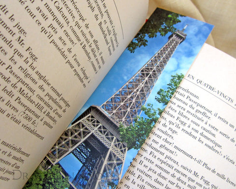 Eiffel Tower Bookmark - Dragon in Knots - Photo Bookmarks