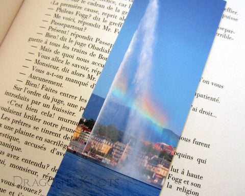 Jet d'Eau Rainbow Bookmark - Lake of Geneva, Switzerland