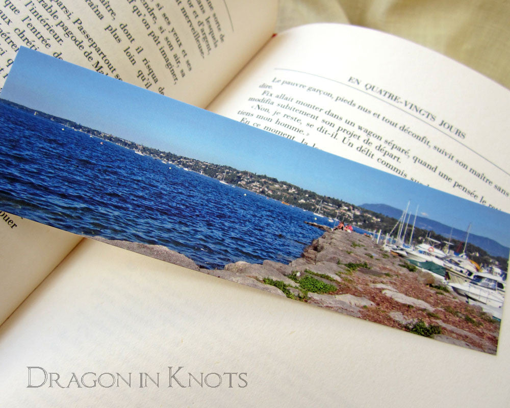 Lake Geneva Bookmark - Dragon in Knots - Photo Bookmarks