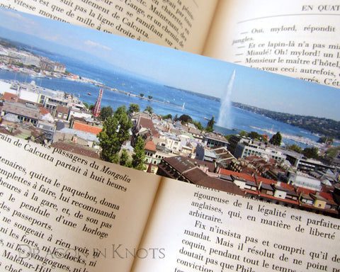 View of Geneva Bookmark - Switzerland themed Book Accessory