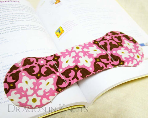 Pink and Brown Book Weight - Dragon in Knots - Book Weights