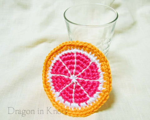 Cara Cara Navel Orange Coaster - Single - Dragon in Knots - Coasters
