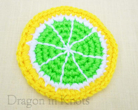 Lemon Lime Coaster - Single - Mutant Fruit - Dragon in Knots - Coasters