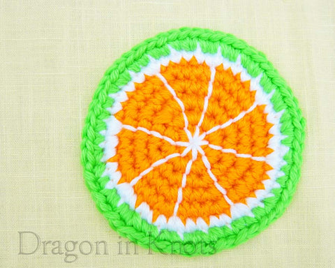 Green Tangerine Coaster - Single - Dragon in Knots - Coasters