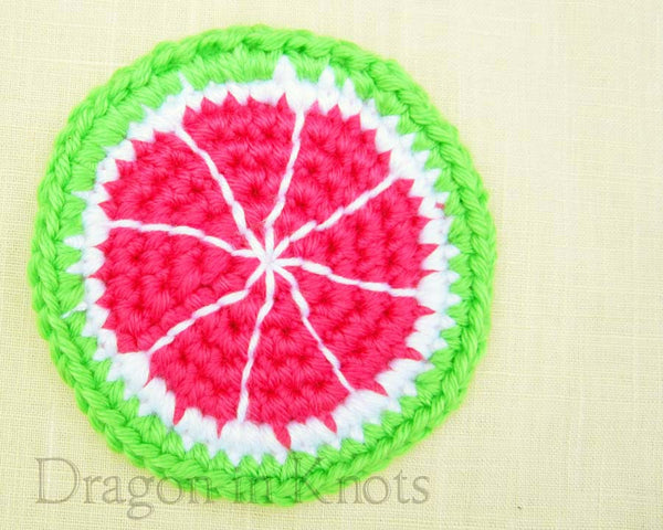 Pink Pomelo Coaster - Single - Dragon in Knots - Coasters