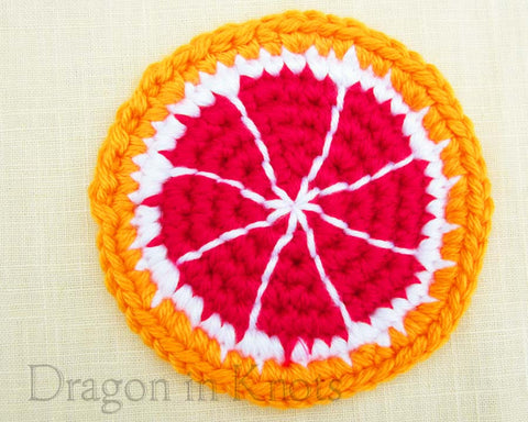 Blood Orange Coaster - Single - Dragon in Knots - Coasters