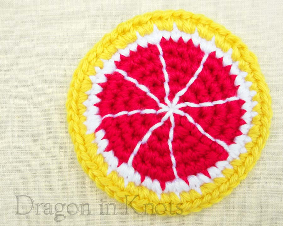 Ruby Red Grapefruit Coaster - Single - Dragon in Knots - Coasters