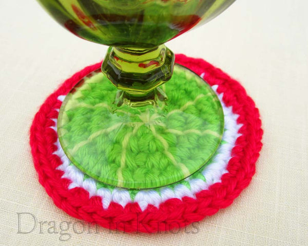 Cherry Limeade Coaster - Single - Mutant Fruit - Dragon in Knots - Coasters