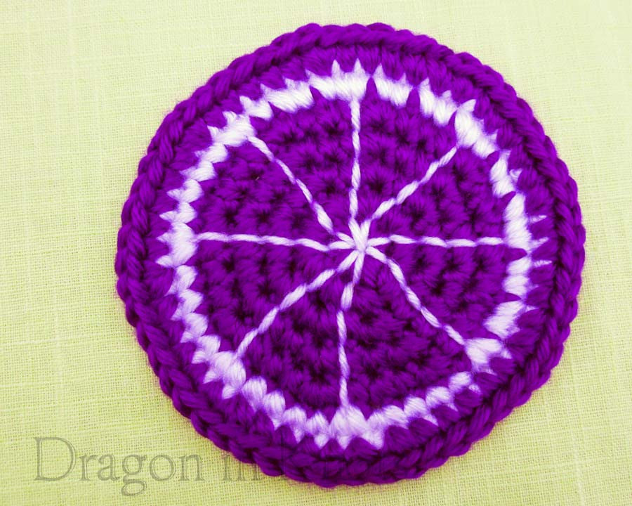 Grape Citrus Coaster - Single - Mutant Fruit - Dragon in Knots - Coasters