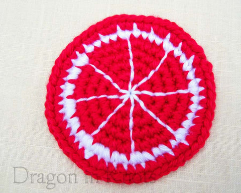 Cherry Citrus Coaster - Single - Mutant Fruit - Dragon in Knots - Coasters