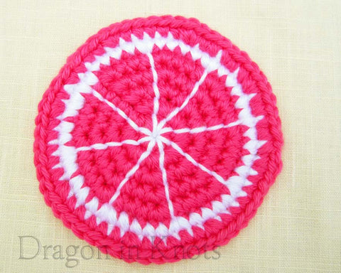Pink Lemon Coaster - Single - Mutant Fruit Collection - Dragon in Knots - Coasters