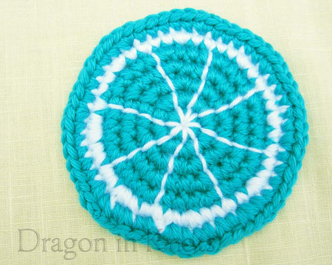 Blue Raspberry Coaster - Single - Mutant Fruit - Dragon in Knots - Coasters