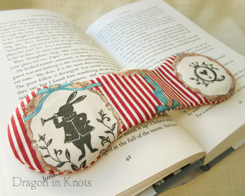 Alice on Red Book Weight - Dragon in Knots handmade accessory