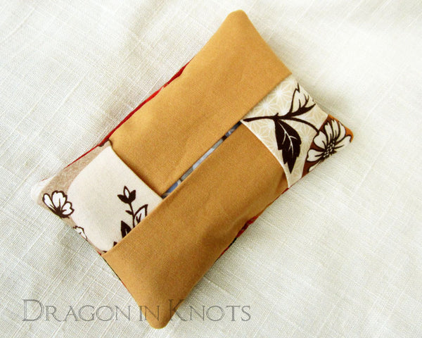 Japanese Woman Pocket Tissue Holder - Dragon in Knots - Tissue Holders