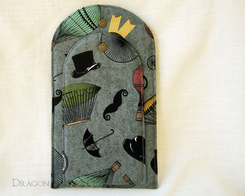 Take Flight - Ereader or Small Book Sleeve - Dragon in Knots - Flat Book Sleeves