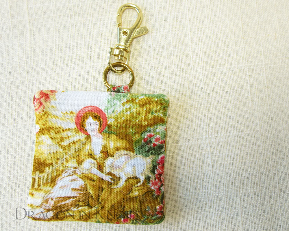 A Lady and her Dog - Earbud Pouch - Dragon in Knots - Earbud Pouches