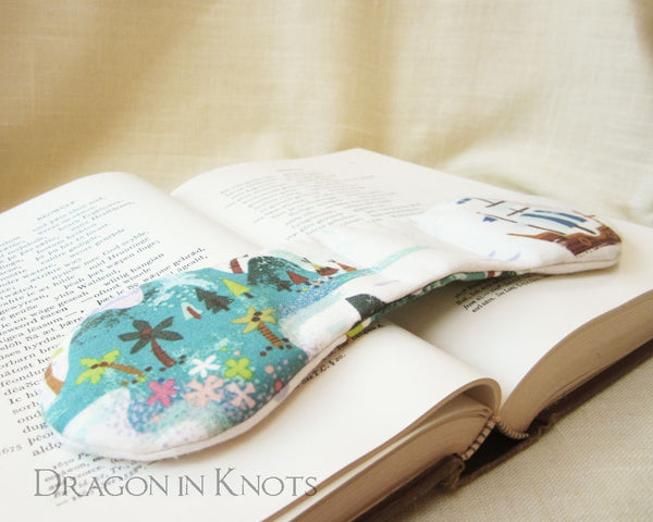 Adventure Book Weight Page Holder - Dragon in Knots handmade accessory