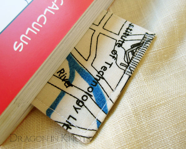 Map of Tokyo Bookmark -  - Fabric Bookmark - Dragon in  Knots - 5