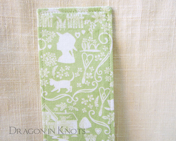 Anne of Green Gables Bookmark - Dragon in Knots - Fabric Bookmarks
