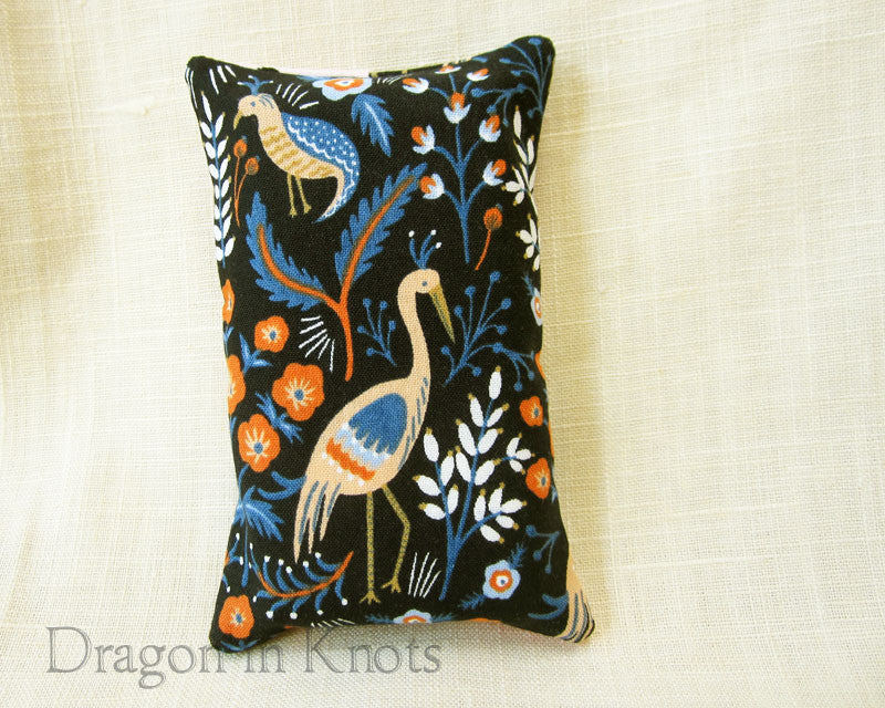 Cranes and Flowers Travel-Sized Tissue Holder - Dragon in Knots handmade accessory