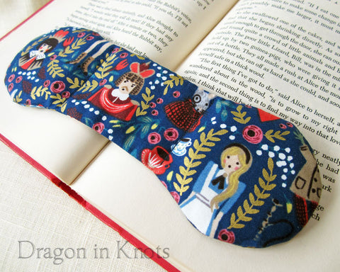 Wonderland Book Weight Page Holder - Royal Blue Alice Literary Gift 1