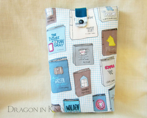 Book Love Book Sleeve - Dragon in Knots handmade accessory