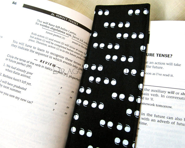 Quotation Mark Bookmark -  - Fabric Bookmark - Dragon in  Knots - 3
