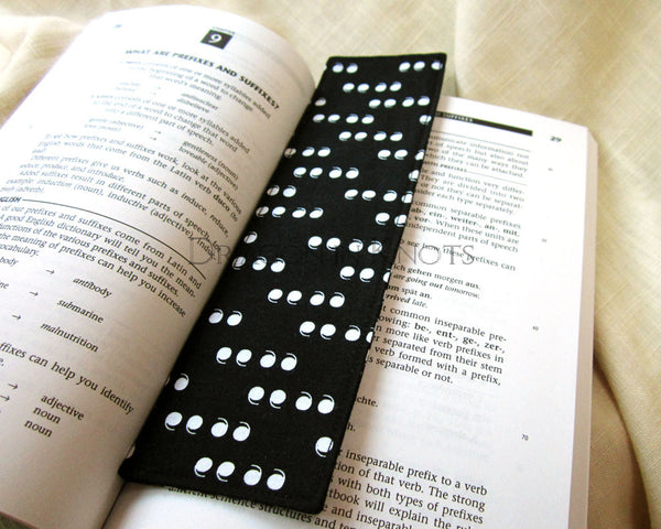 Quotation Mark Bookmark - Dragon in Knots - Fabric Bookmarks