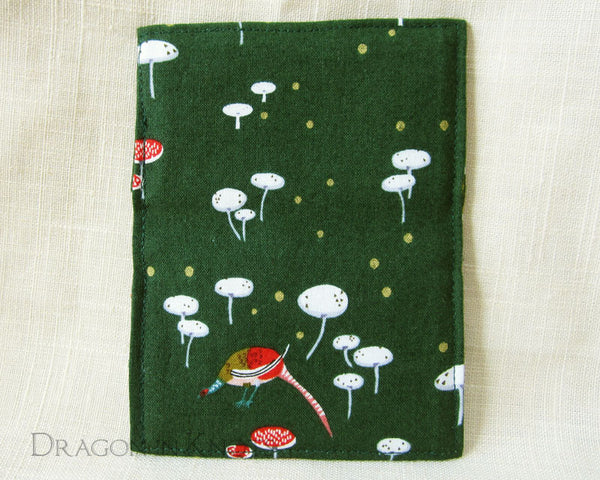 Pheasant Slim Card Wallet - Dragon in Knots handmade accessory