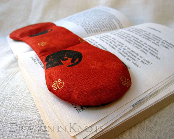 Cat Book Weight - Blue or Red - Dragon in Knots - Book Weights