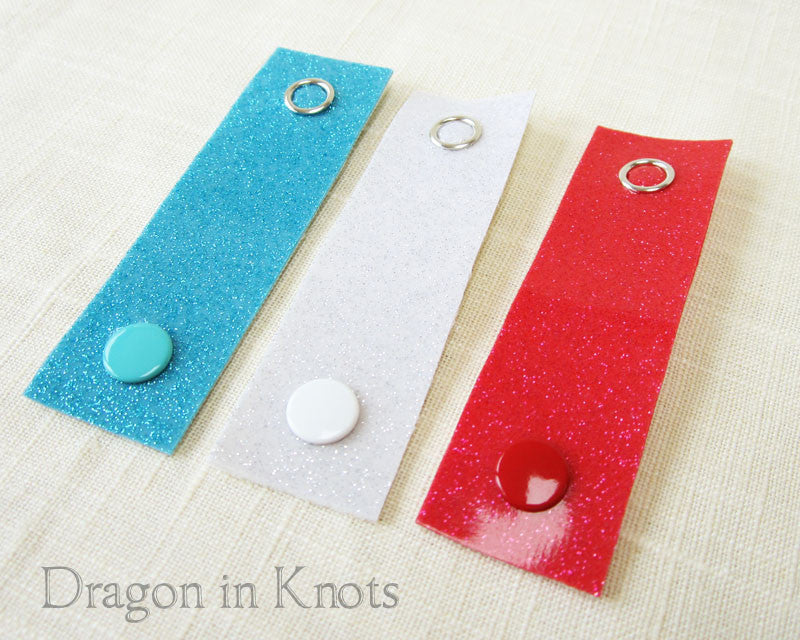 Cord Ties - Blue, White, and Red - Dragon in Knots - Cord Ties