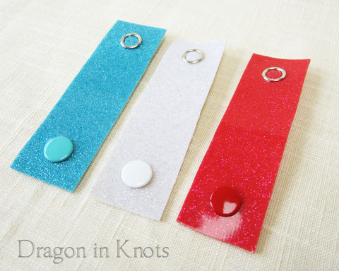 Cord Ties - Blue, White, and Red - Dragon in Knots handmade accessory