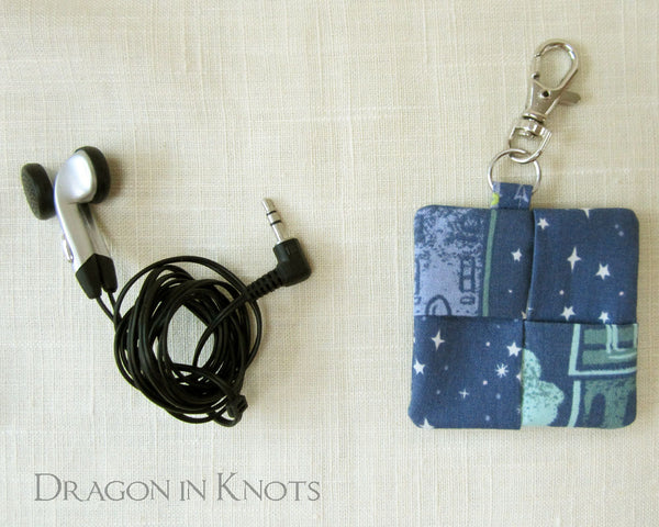 Fairy Lantern Earbud Pouch - Dragon in Knots handmade accessory