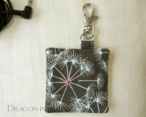 Dandelion Earbud Pouch - Dragon in Knots handmade accessory
