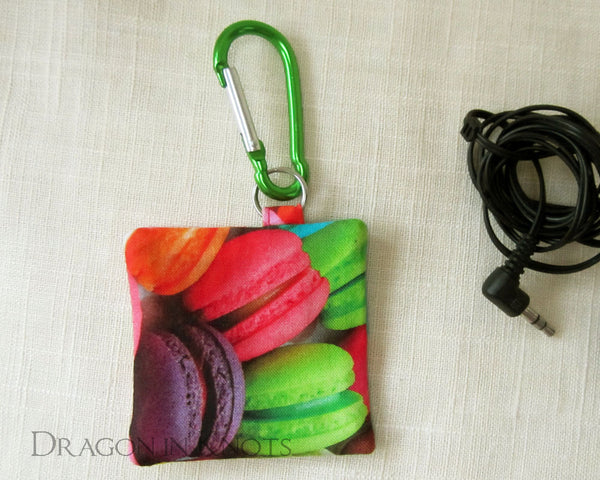 Macaron Earbud Holder - Dragon in Knots handmade accessory