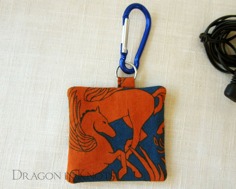 Pegasus Guitar Pick or Earbud Holder - Dragon in Knots handmade accessory