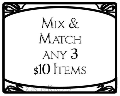 Mix and Match - Earbud Pouches, Pocket Tissue Holders, Insulated Lip Balm Pouches, Card Wallets - Dragon in Knots -