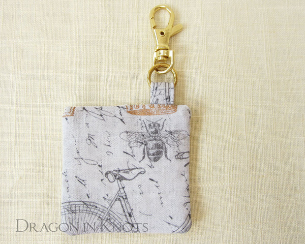 Honey Bee Earbud Pouch - Dragon in Knots handmade accessory