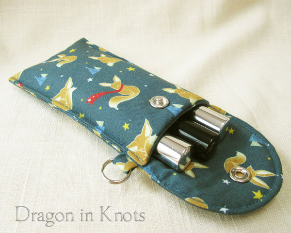Fox Tall Lip Gloss Holder - Dragon in Knots - Lip Gloss Pouches