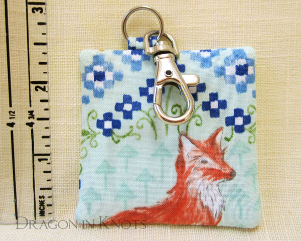 Fox Earbud Pouch - Dragon in Knots - Earbud Pouches