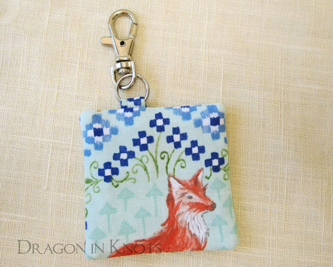 Fox Earbud Pouch - Dragon in Knots handmade accessory