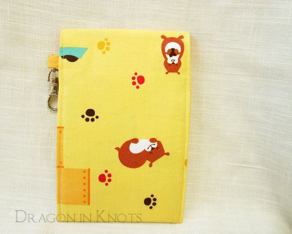 Hamster Dual Pocket Pouch - Dragon in Knots handmade accessory