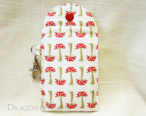 A Study in Toadstools - Lip Gloss and Card Pouch - Dragon in Knots handmade accessory