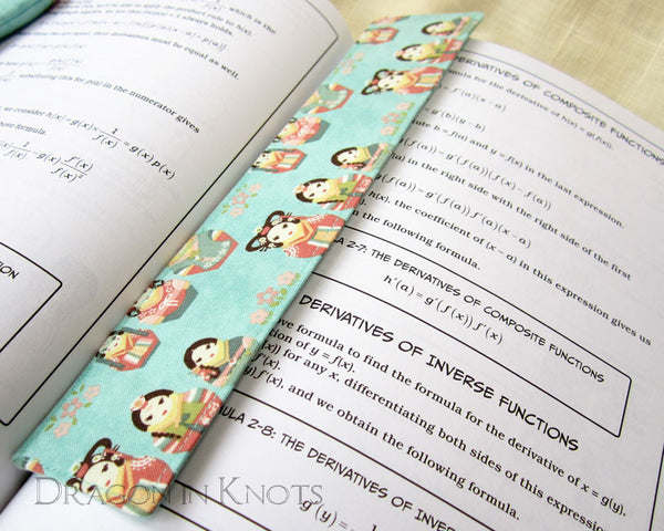 Korean Matryoshka Bookmark -  - Fabric Bookmark - Dragon in  Knots - 3