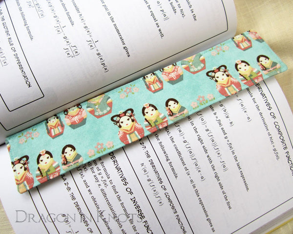 Korean Matryoshka Bookmark -  - Fabric Bookmark - Dragon in  Knots - 4